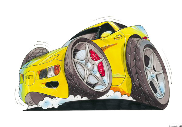 Chevrolet Corvette Jaune