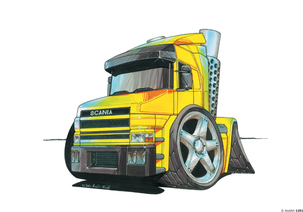 Camion Scania Jaune