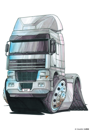 Camion Daf Gris