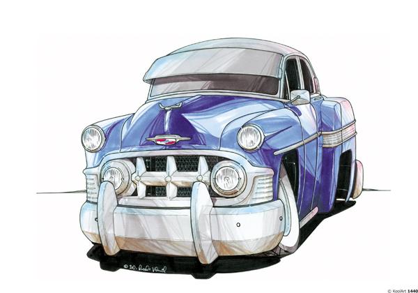 Chevrolet Chevy 54 Bleue