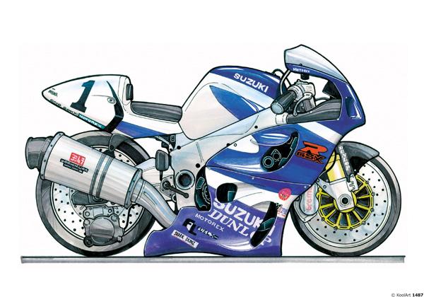 Suzuki GSXR Bleue