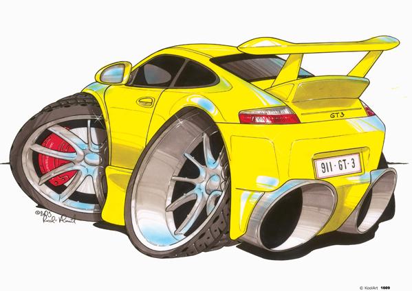 Porsche 911 GT 3 Jaune