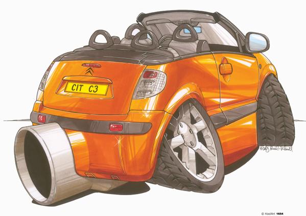 Citroen C3 Cabriolet Orange