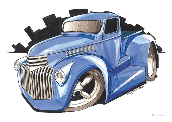 Chevrolet Custom Pickup Bleu