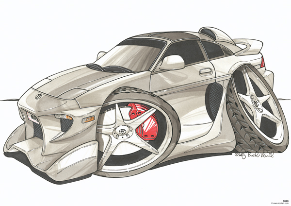 Toyota MR2 Tunning Grise