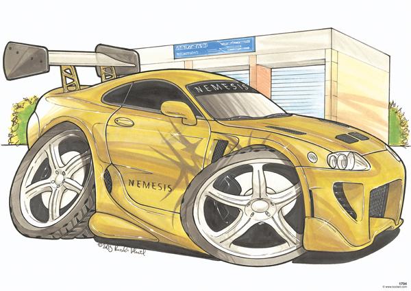 Toyota Supra Nemesis Dorée