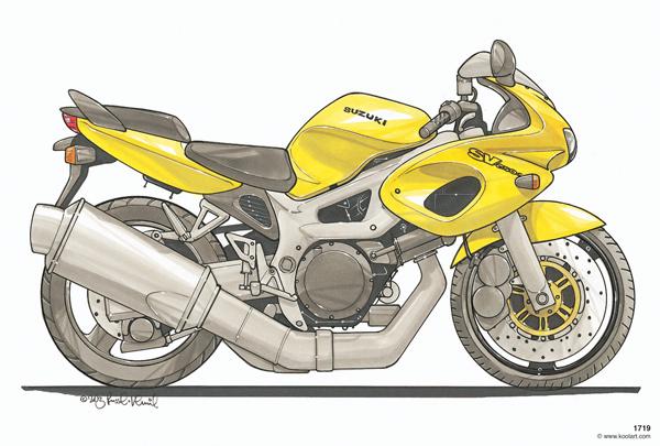 Suzuki SV 650 Jaune