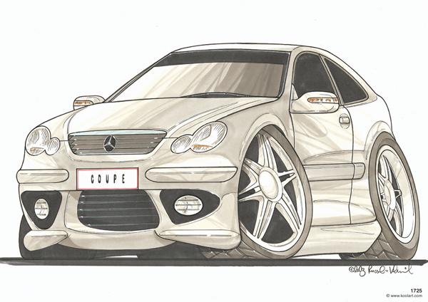Mercedes Coupé Grise