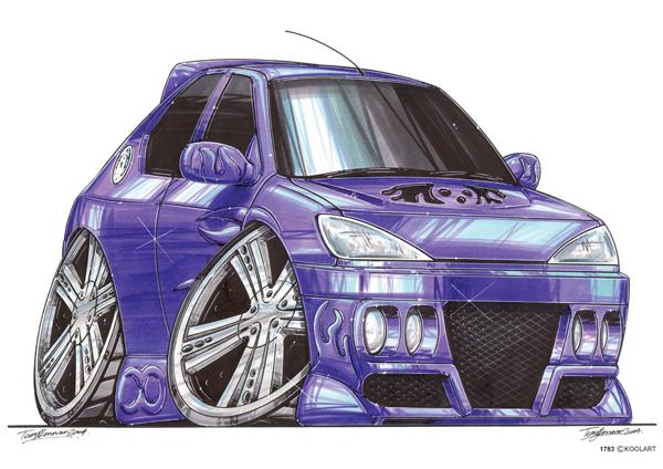 Peugeot 306 Tunning Violette