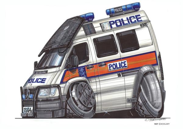 Fourgon Police Gris