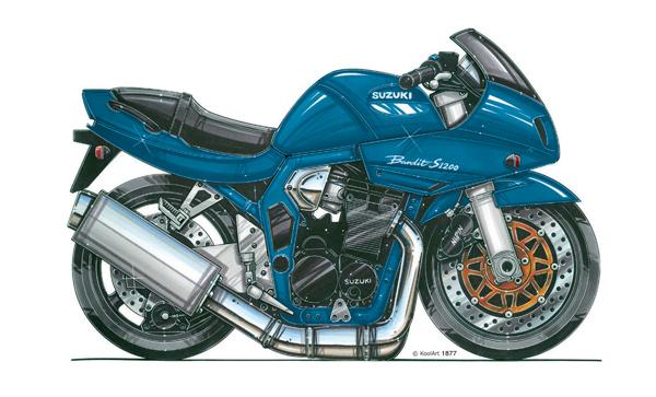 Suzuki Bandit S1200 Bleue