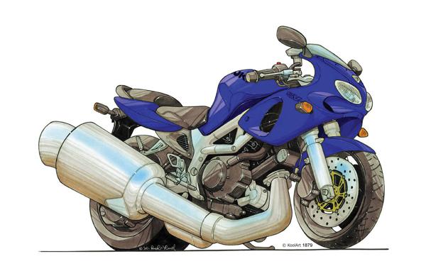 Suzuki SV 650 Bleue