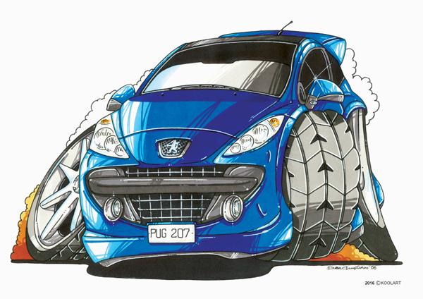 Peugeot 207 Bleue