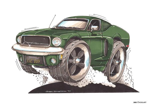 Mustang Bullitt Verte