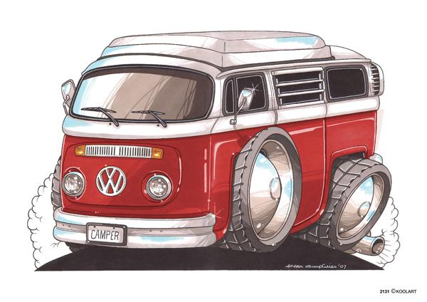 Volkswagen Combi Rouge