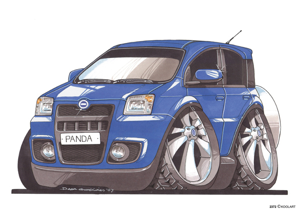 Fiat Panda Bleue