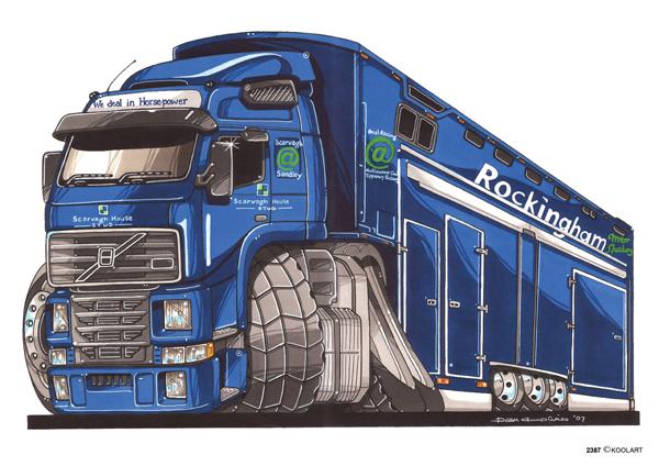 Camion Volvo Bleu