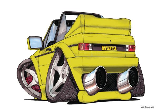 VW Golf Cabriolet Jaune