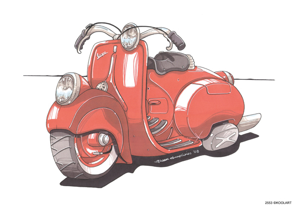 Scooter Vespa 98 Rouge