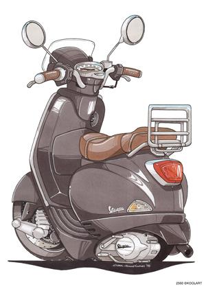 Scooter Vespa LX 50 Noir