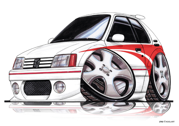 Peugeot 106 Tuning Blanche