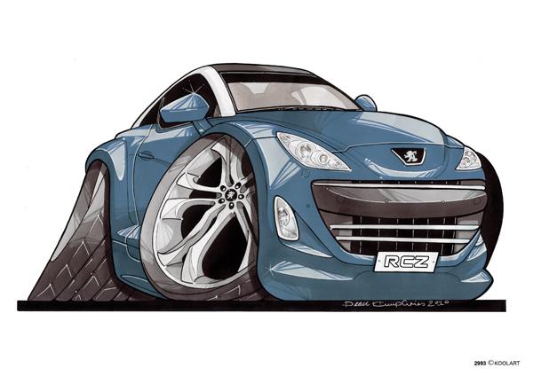 Peugeot RCZ Bleue