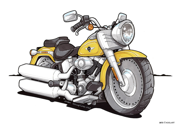 Harley Davidson Fat Boy Jaune