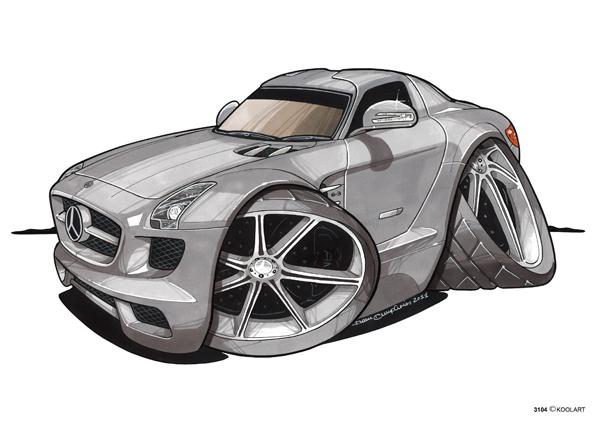 Mercedes SLS AMG Grise