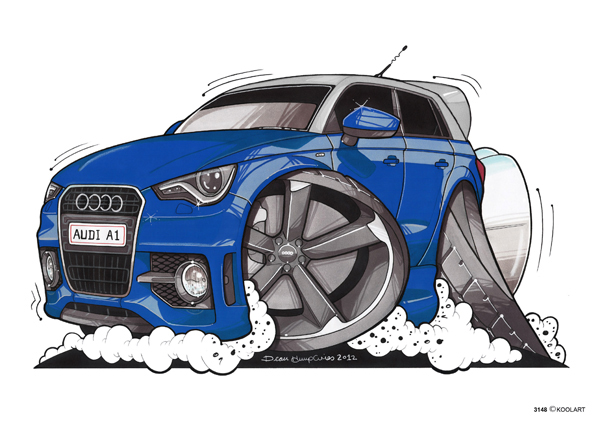 Audi A1 Bleue