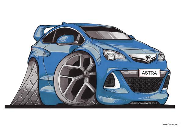 Opel Astra Vauxhall Bleue