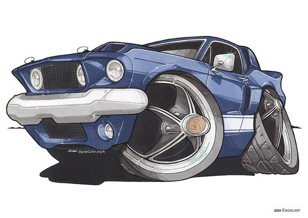 Mustang GT500 Bleue 1967