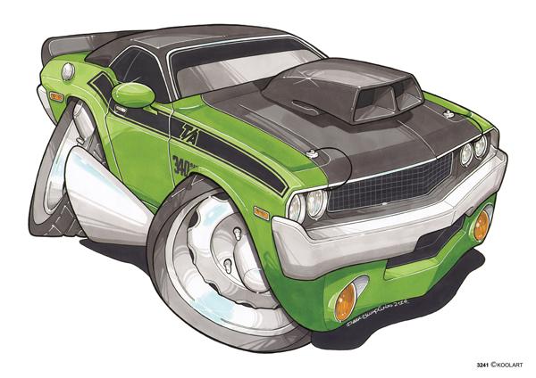Dodge Charger Verte & Noire