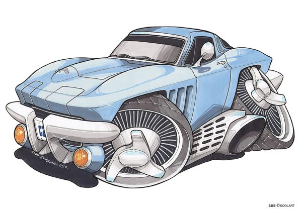 Corvette C2 Bleue
