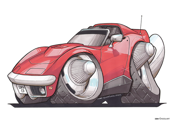 Corvette C3 Cabriolet Rouge
