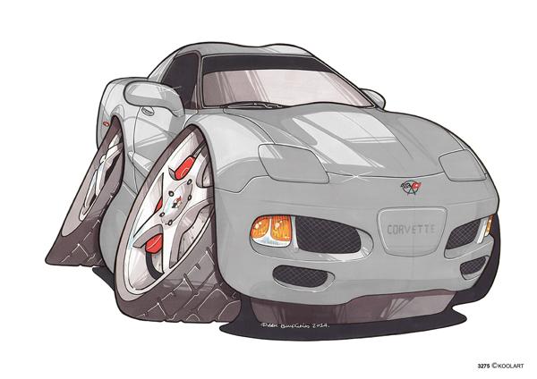 Corvette C5 Grise