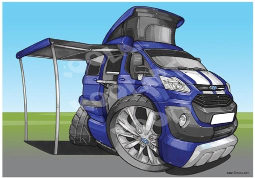 Ford Transit Camper Bleu