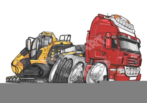 Camion Scania Porte Engins