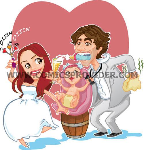 partecipazione sposi con bambino