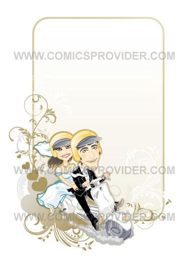 sposi in vespa formato verticale
