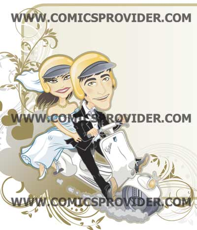 sposi in vespa dettaglio
