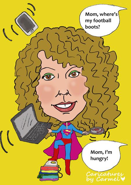 Supermom Caricature