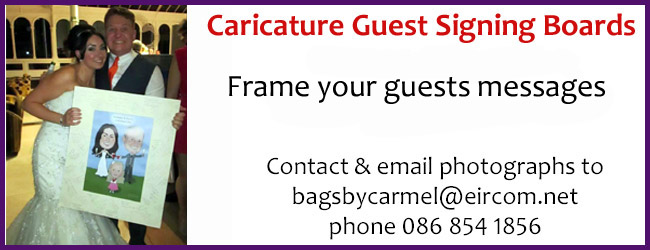 Caricature Guest signing Boards - Frame your guests messages