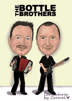 Bottle Brothers band logo caricature