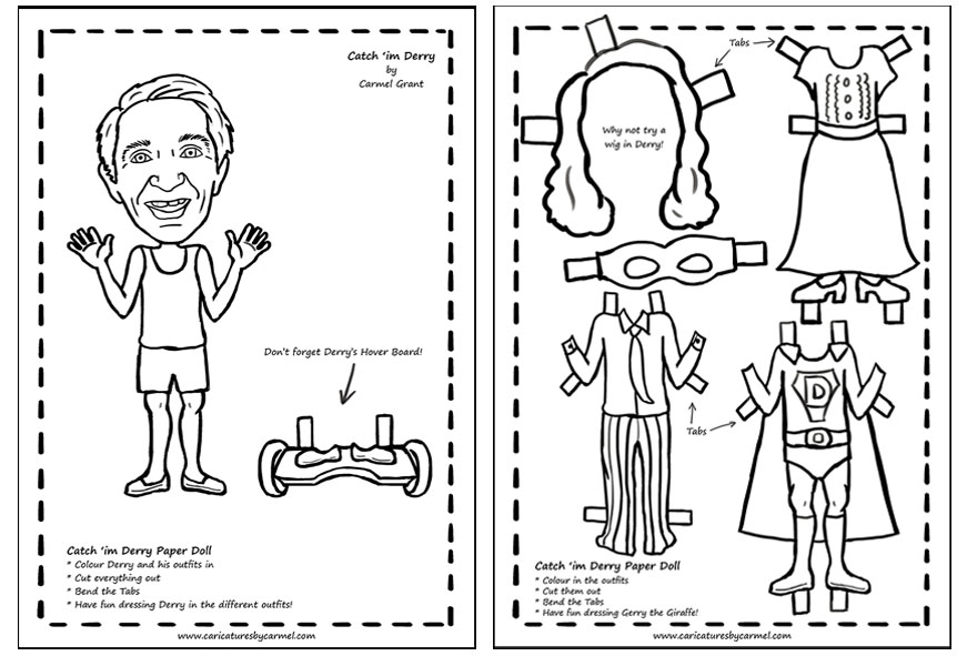 Catch 'im Derry Paper Doll Package