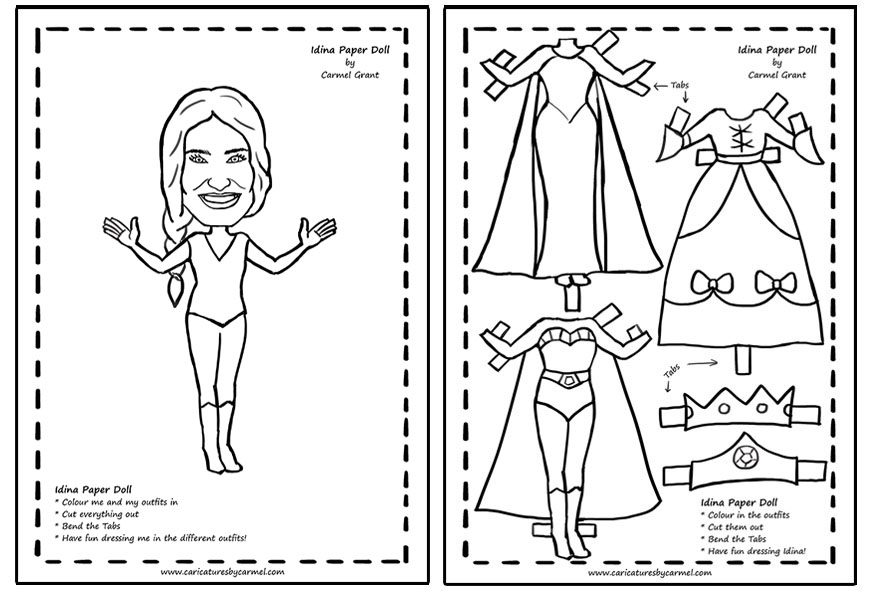 Idina Paper Doll Pattern free to download