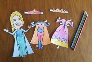 Idina Paper Doll dressed up