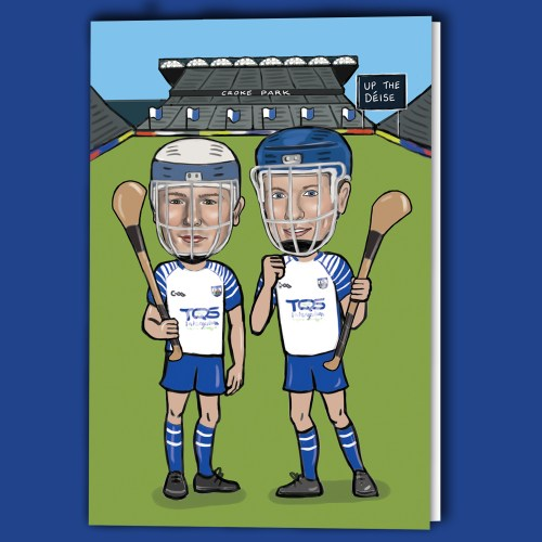 Waterford hurling greeting card celebrating the 2020 hurling final