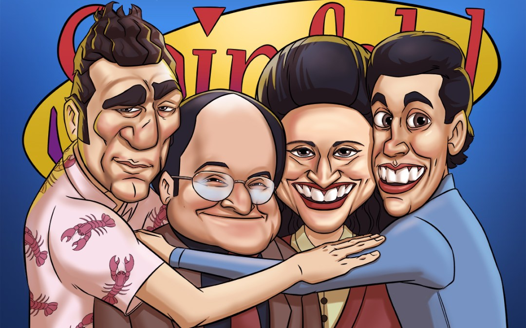 Caricature of Seinfeld TV Show