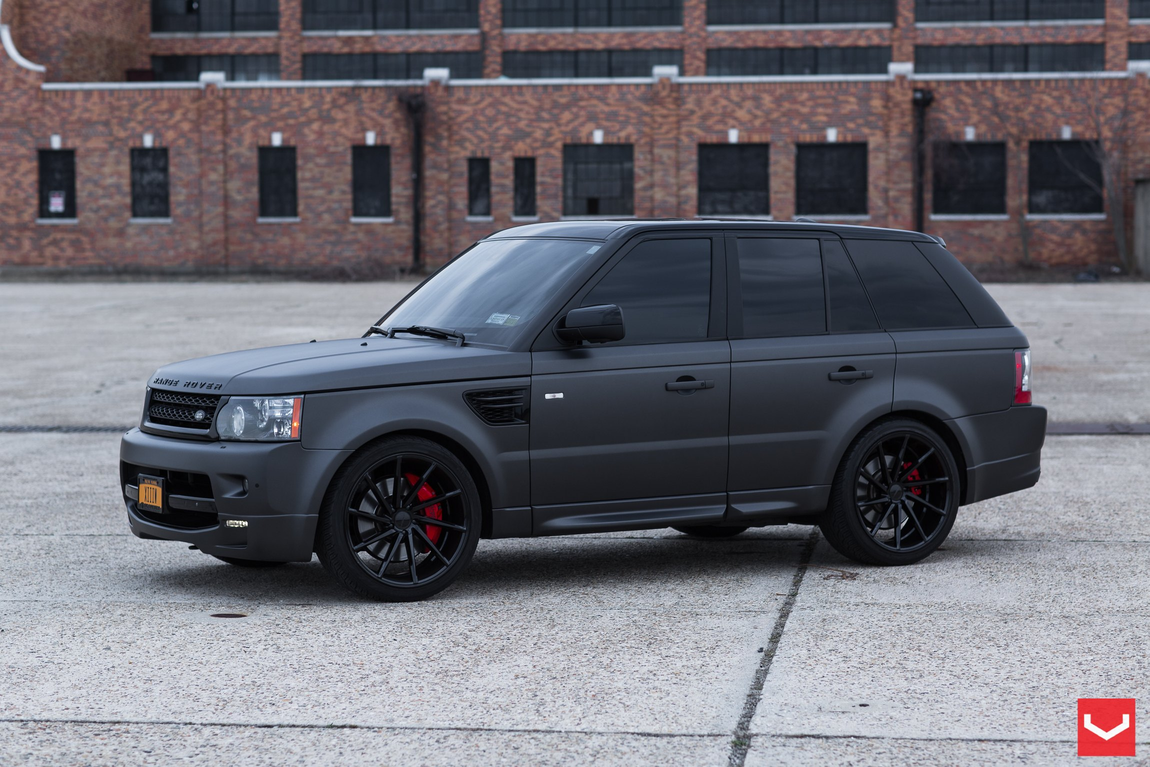 Black On Black: Matte Land Rover Range Rover Sport With