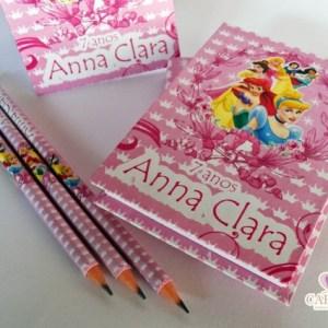 bloco de anotação Personalizado Princesas